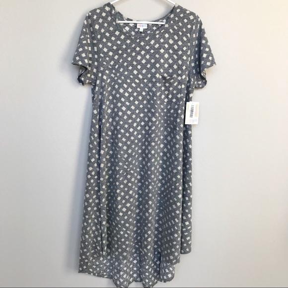 129e48766d94f LuLaRoe Carly Gray Dress Size L